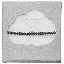 Buy Estella Bartlett Like A Diamond Gem Mini Star Pendant Necklace and Stretch Bracelet, Silver Online at johnlewis.com