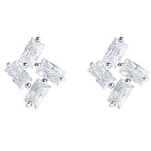 Buy Joma Firework Clear Cubic Zirconia Stud Earrings, Silver Online at johnlewis.com