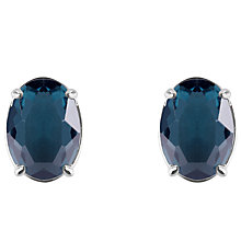 Buy Joma Quarzite Oval Stud Earrings, Teal Online at johnlewis.com