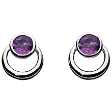 Buy Kit Heath Simmer Loop Stud Earrings, Amethyst Online at johnlewis.com