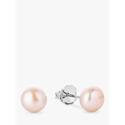Claudia Bradby Freshwater Pearl Button Stud Earrings, 7mm