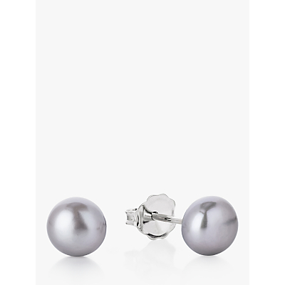 Claudia Bradby Freshwater Pearl Button Stud Earrings, 7mm