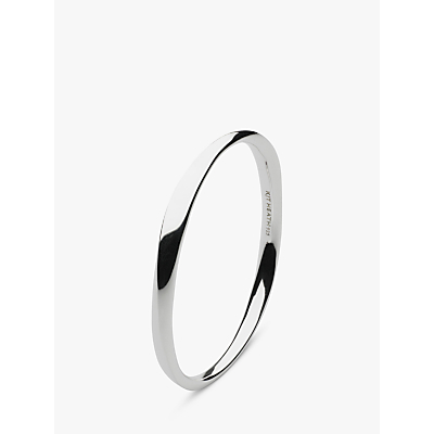 Kit Heath Sterling Silver Bevel Curve Bangle, Silver