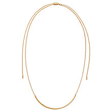 Buy Michael Kors Double Wrapped Lariat Necklace, Gold Online at johnlewis.com