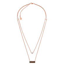 Buy Michael Kors Smoky Topaz Cubic Zirconia Double Chain Necklace, Rose Gold Online at johnlewis.com