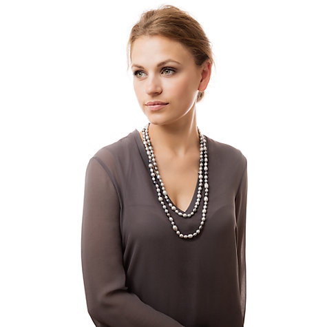Buy Claudia Bradby Long Rice Freshwater Pearl Necklace