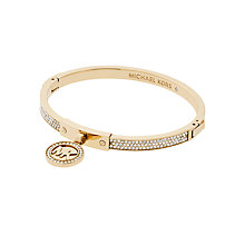 Buy Michael Kors Fulton Logo Charm Hinge Bangle Online at johnlewis.com