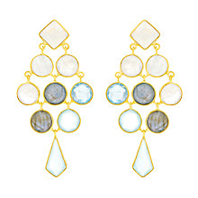 Buy Auren 18ct Gold Vermeil Gemstones Cascade Kite Drop Earrings, Multi Online at johnlewis.com
