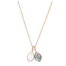 Buy Auren 18ct Rose Gold Vermeil Labradorite and Rainbow Moonstone Double Marquise Pendant Necklace, Rose Gold Online at johnlewis.com