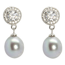 Buy Lido Pearls Circle Cubic Zirconia Freshwater Pearl Drop Earrings Online at johnlewis.com