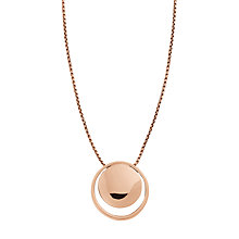 Buy Skagen Elin Double Round Pendant Necklace Online at johnlewis.com