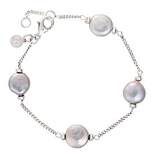 Buy Claudia Bradby Freshwater Pearl Coin Chain Bracelet Online at johnlewis.com