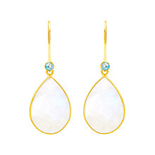 Buy Auren 18ct Gold Vermeil Rainbow Moonstone and Blue Topaz Teardrop Drop Earrings, Gold/Multi Online at johnlewis.com