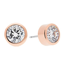 Buy Michael Kors Cubic Zirconia Stud Earrings, Rose Gold Online at johnlewis.com