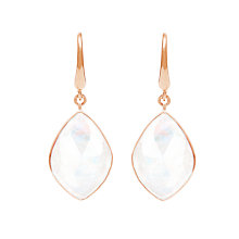 Buy Auren 18ct Rose Gold Vermeil Rainbow Moonstone Marquise Drop Earrings, White/Rose Gold Online at johnlewis.com
