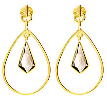 Buy Auren 18ct Gold Vermeil Gemstones Triple Drop Kite Earrings, Multi Online at johnlewis.com