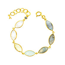 Buy Auren 18ct Gold Vermeil Multi-Gemstone Marquise Bracelet, Gold/Multi Online at johnlewis.com