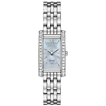 Buy Citizen EX1470-60D Women's Silhouette Crystal Bracelet Strap Watch, Silver/Blue Online at johnlewis.com