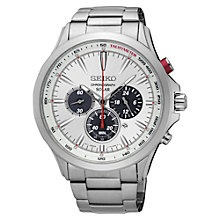 Buy Seiko Men's Solar Chronograph Date Bracelet Strap Watch Online at johnlewis.com