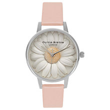 Buy Olivia Burton Women's Flower Show 3D Daisy Leather Strap Watch Online at johnlewis.com