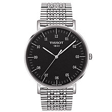 Buy Tissot T1096101107700 Men's Everytime Bracelet Strap Watch, Silver/Black Online at johnlewis.com
