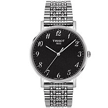 Buy Tissot T1094101107200 Men's Everytime Bracelet Strap Watch, Silver/Black Online at johnlewis.com