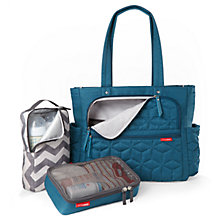 Buy Skip Hop Forma Tote Changing Bag, Peacock Blue Online at johnlewis.com