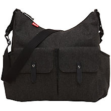 Buy Babymel Frankie Tweed Changing Bag, Grey Online at johnlewis.com