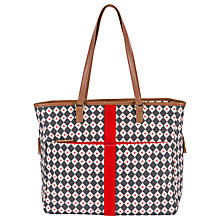 Buy Pink Lining Henrietta Diamond and Hearts Tote Changing Bag Online at johnlewis.com