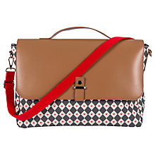 Buy Pink Lining Satchel Diamonds and Hearts Changing Bag Online at johnlewis.com