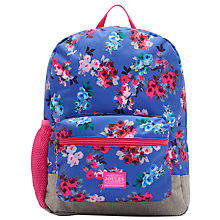 Buy Joules Junior Patch Rucksack, Blue Ditsy/Multi Online at johnlewis.com