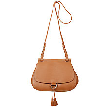 Buy Hobbs Highgate Leather Across Body Bag, Tan Online at johnlewis.com