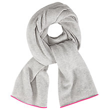 Buy Cocoa Cashmere Neon Tipped Scarf, Grey/Dayglow Online at johnlewis.com