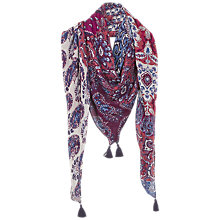 Buy Fat Face Batik Floral Print Patchwork Scarf Online at johnlewis.com
