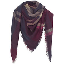 Buy Fat Face Helen Check Square Scarf, Purple Online at johnlewis.com