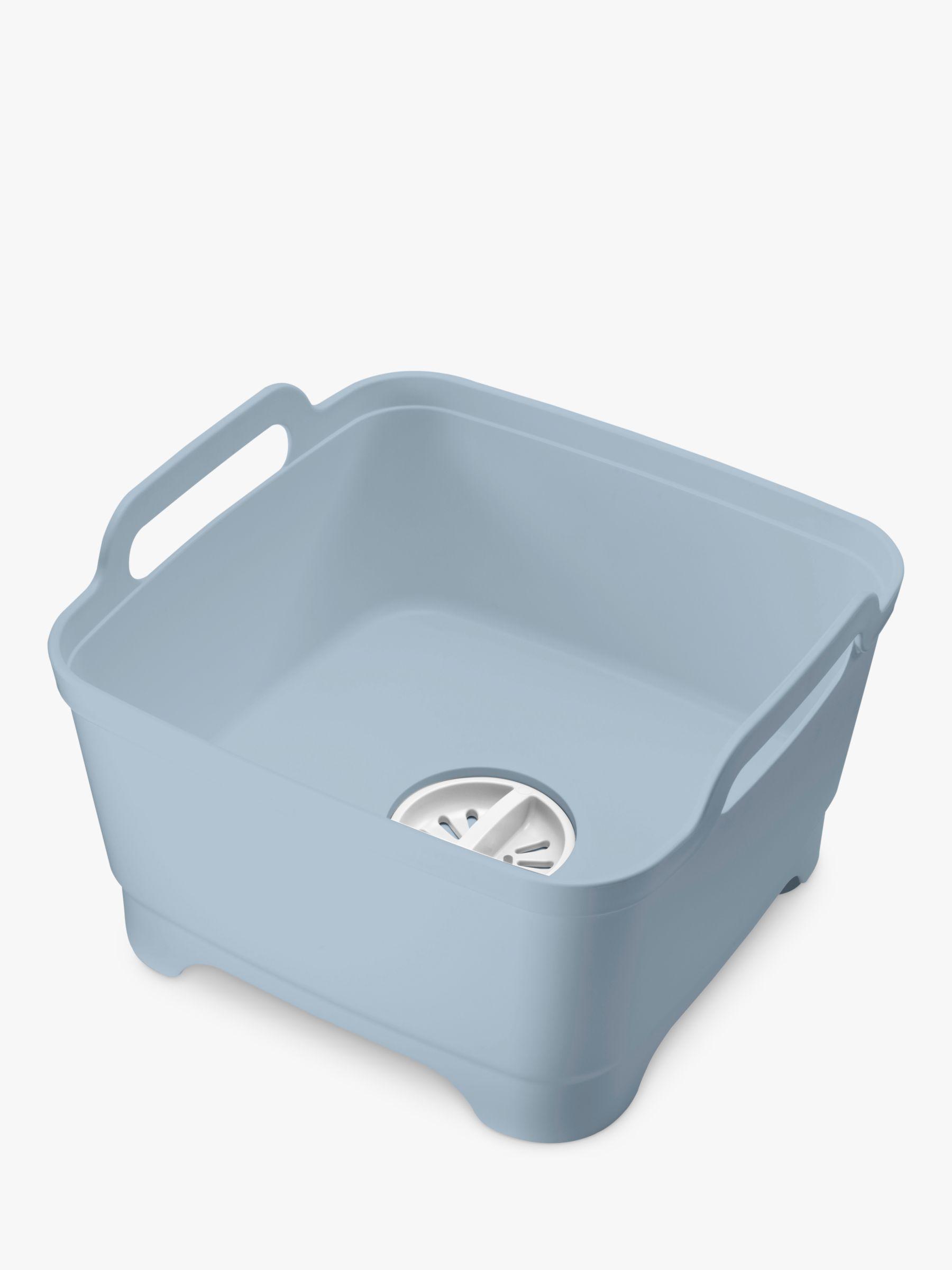 Joseph Joseph Joseph Joseph Wash & Drain Washing-Up Bowl, Blue Grey