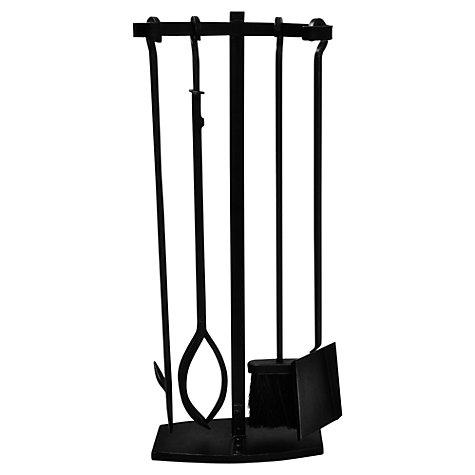 buy ivyline iron fireside companion set 4 piece john lewis. Black Bedroom Furniture Sets. Home Design Ideas
