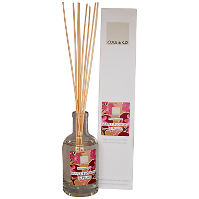 Image of Cole & Co Apple Blossom and Plum Diffuser, 200ml