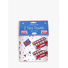 Buy Milly Green Celebration of Britain London Cotton Tea Towels, Set of 2 Online at johnlewis.com