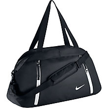 Buy Nike Auralux Solid Club Training Bag, Black/White Online at johnlewis.com