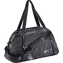 Buy Nike Auralux Print Club Training Bag, Dark Grey/Black Online at johnlewis.com