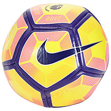 Buy Nike Premier League Skills Football, Size 1, Yellow/Purple Online at johnlewis.com