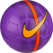 Buy Nike Mercurial Fade Football, Size 5, Hyper Grape/Total Crimson Online at johnlewis.com