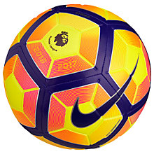 Buy Nike Premier League Strike Football, Size 5, Yellow/Purple Online at johnlewis.com
