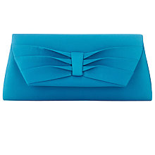 Buy Jacques Vert Pleated Detail Clutch Bag, Turquoise Online at johnlewis.com