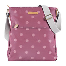 Buy Brakeburn Polka Canvas Large Saddle Bag, Red Online at johnlewis.com