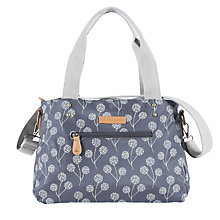 Buy Brakeburn Floral Large Canvas Shoulder Bag, Charcoal Online at johnlewis.com