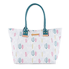 Buy Brakeburn Sketchy Leaves Canvas Tote Bag, Grey Online at johnlewis.com