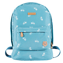Buy Brakeburn Bikes Print Canvas Backpack, Teal Online at johnlewis.com