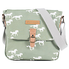Buy Brakeburn	Horses Canvas Across Body Bag, Green Online at johnlewis.com